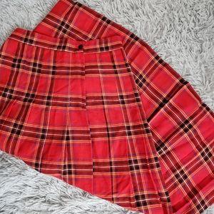 VINTAGE   Red Plaid Maxi Skirt!